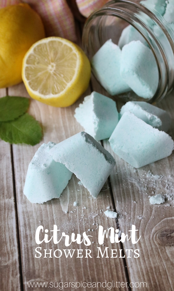 DIY Shower Melts for Nasal Congestion or Colds. These Homemade Lemon Peppermint Shower Melts are made with essential oils