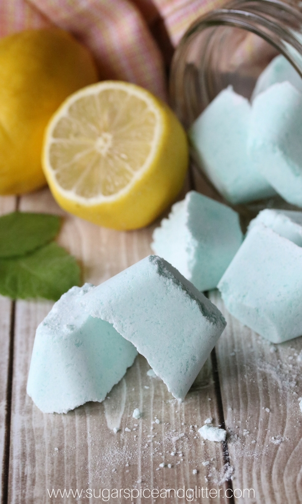 Pop one of these lemon peppermint shower melts in the bottom of the tub as you have a shower for congestion relief without icky medicinal chest rubs. Homemade congestion relief