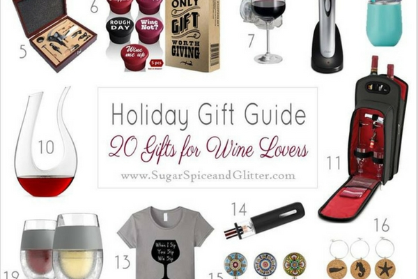 This collection of gift ideas has everything from wine of the month club suggestions to cute wine charms, gorgeous wine storage options and even a wine-themed coloring book
