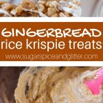 Gingerbread Rice Krispie Squares