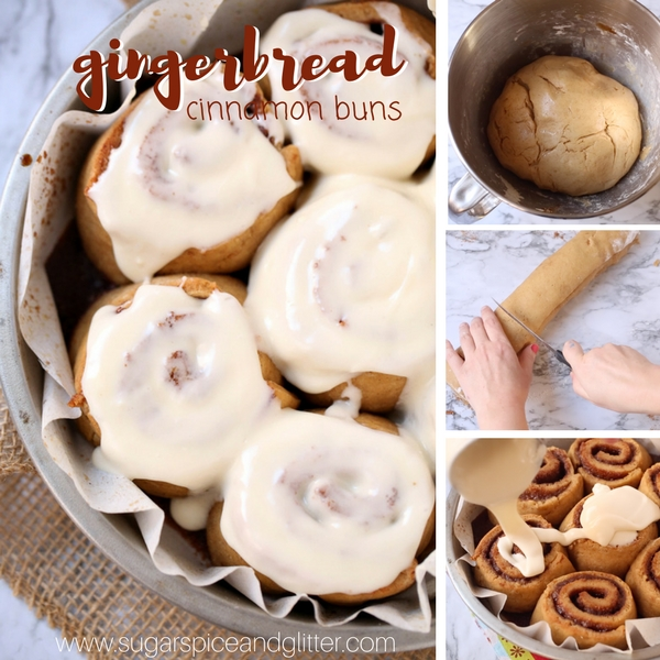 How to make gingerbread cinnamon buns for Christmas brunch