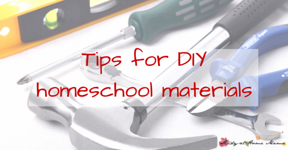 Tips for DIY Homeschool materials from a Montessori homeschooler, helping you afford to homeschool