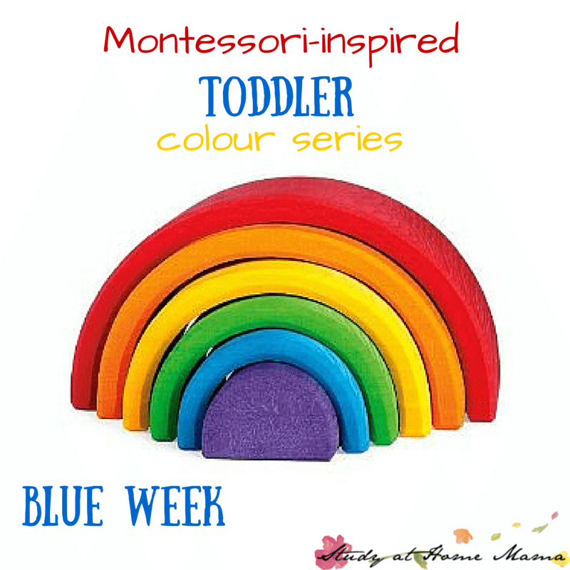 Montessori-inspired Toddler Colour Series - learning all about the color blue, with blue food, blue art, blue sensory play, and more!