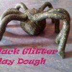 Black Glitter Playdough