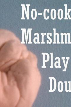 No-Cook Marshmallow Playdough