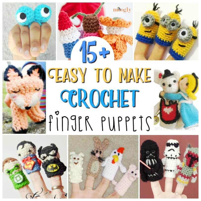 15 Crochet Finger Puppets Sugar Spice And Glitter