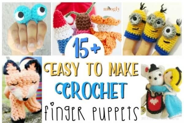 15+ Crochet Finger Puppets ⋆ Sugar, Spice and Glitter