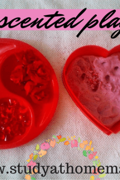 Valentine's Day Rose-Scented Play Dough