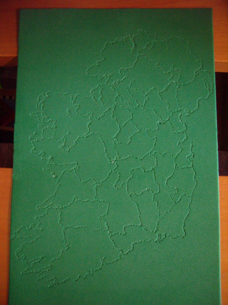 Ireland pinhole map for Montessori-inspired St Patrick's Day Activities