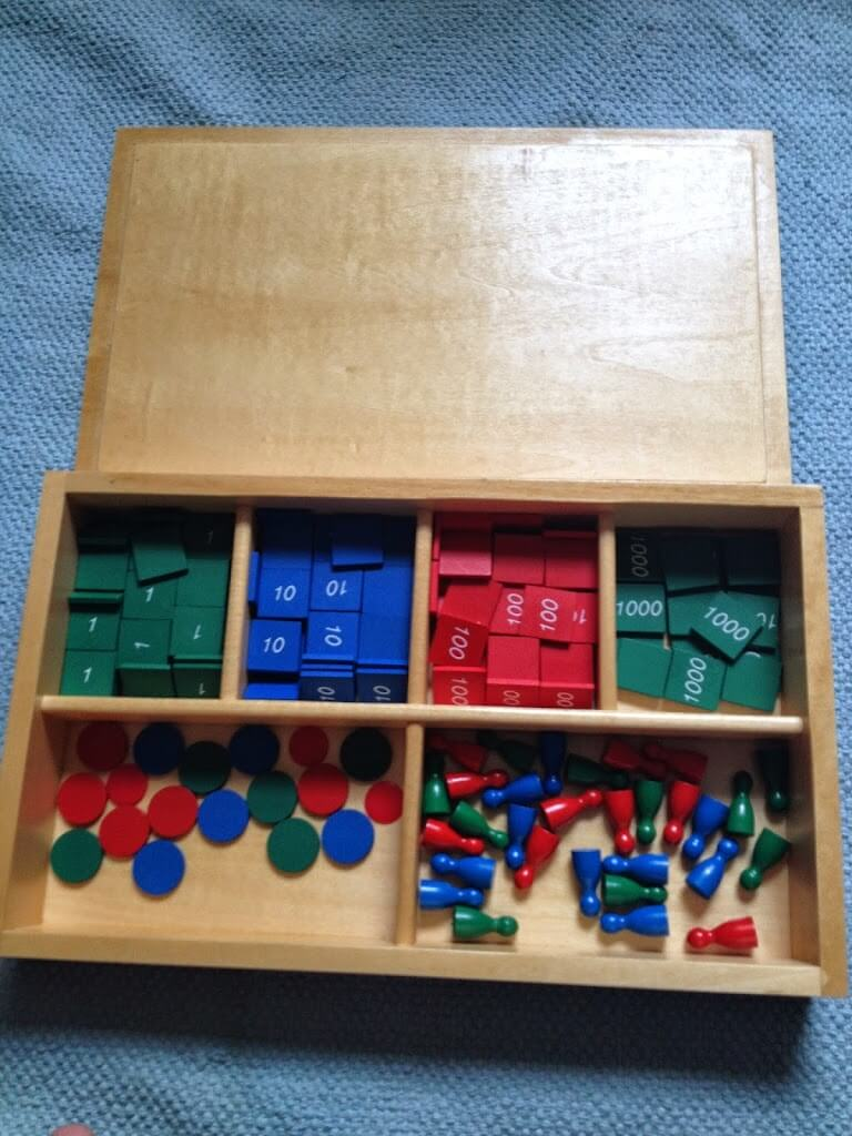 Montessori Math Materials Review by Study-at-Home Mama #stampgame