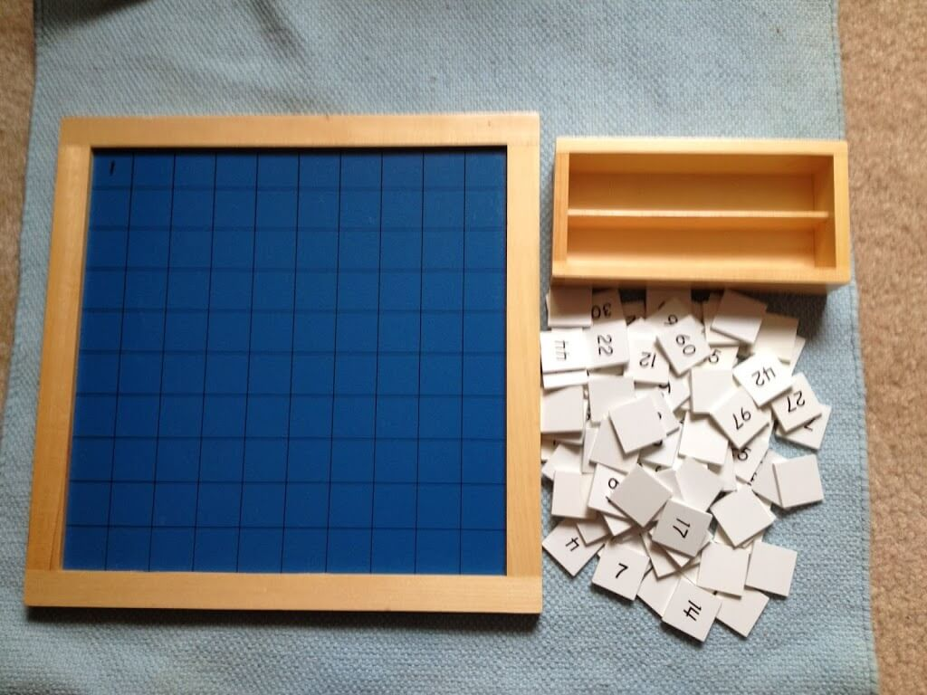 Montessori math Materials Review by Study-at-Home Mama #hundredboard