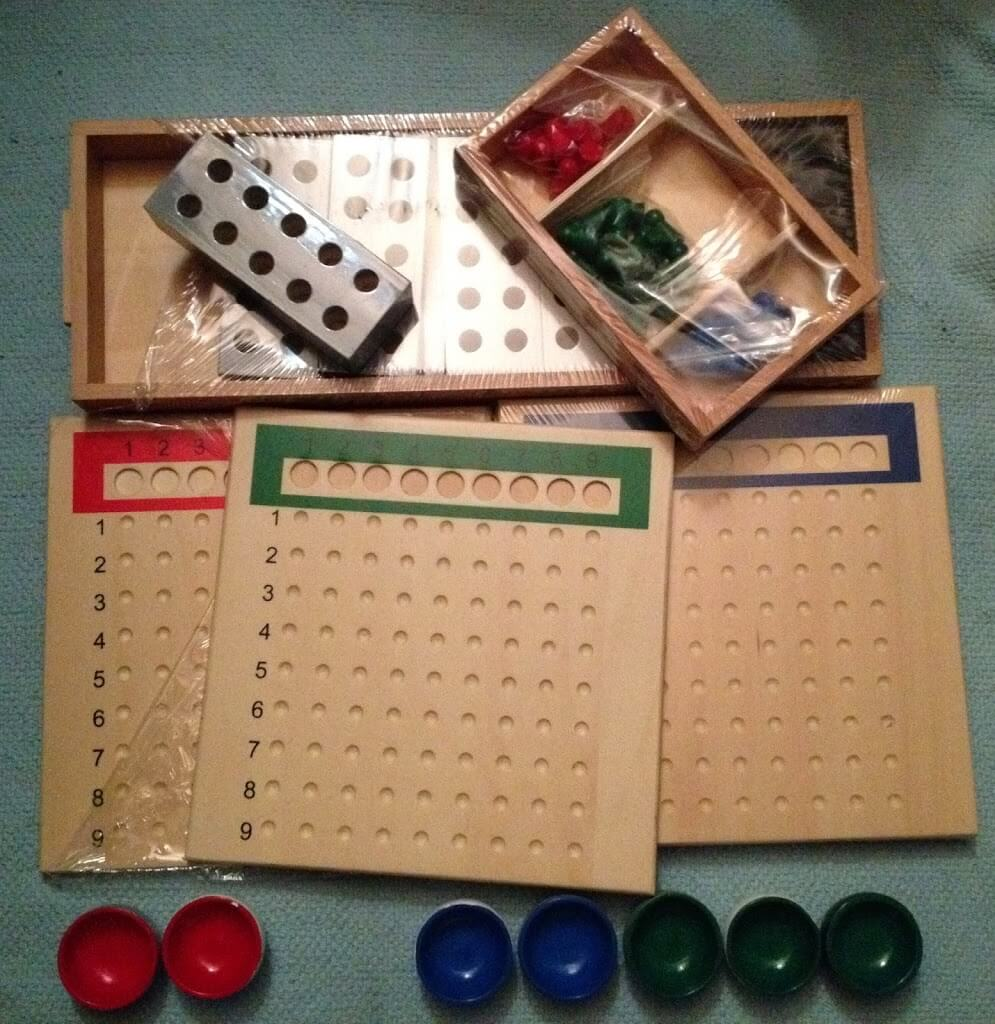 Montessori Math Materials Review by Study-at-Home Mama #division