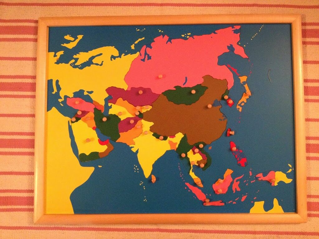 Montessori materials review geography sugar spice and glitter africa continent map montessori equipment 32 compared to 13950 nienhuis possibly the map i find most beautiful likely due to the bevy of colours gumiabroncs Choice Image