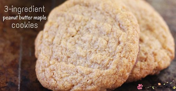Kids' Kitchen: 3-ingredient peanut butter maple cookies, an easy and delicious cookie kids can make - and a fun twist on traditional peanut butter cookies!
