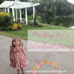 Mama Musing: Packing for a Weekend Away