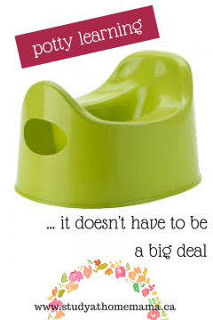 Potty Learning: It Doesn't Have to Be a Big Deal