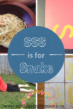 sss is for snake
