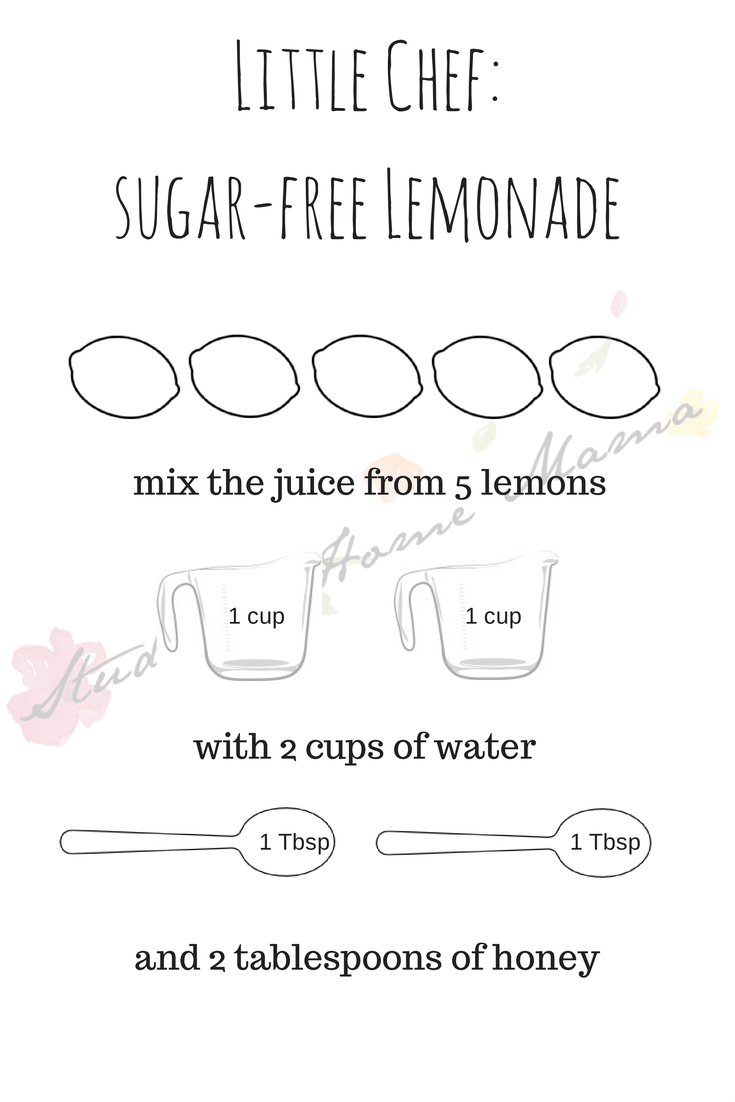 Little Chef_sugar-free Lemonade printable at Sugar, Spice and Glitter