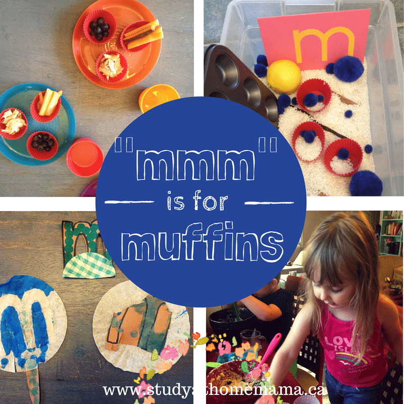 """mmm"" is for muffins at Study-at-Home Mama"