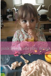 pink lemonade play dough