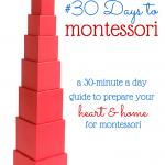 #30DaysToMontessori Challenge!
