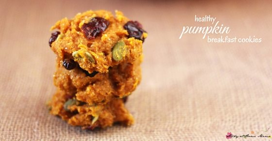 An easy healthy pumpkin cookie for fall - pumpkin, pepito, and cranberry