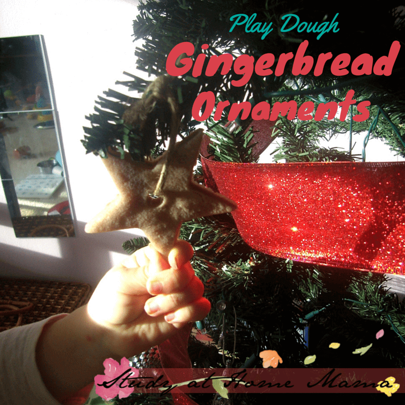 Gingerbread playdough ornaments