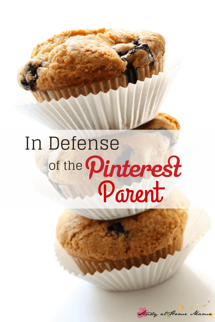 "In Defense of the Pinterest Parent - let's stop hating on moms who like crafting, baking, and are a little too over-prepared for the ""play date."" Let's allow other to express their love and creativity in their own ways!"