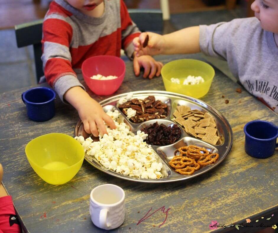 Popcorn trail mix is a favourite at our house!