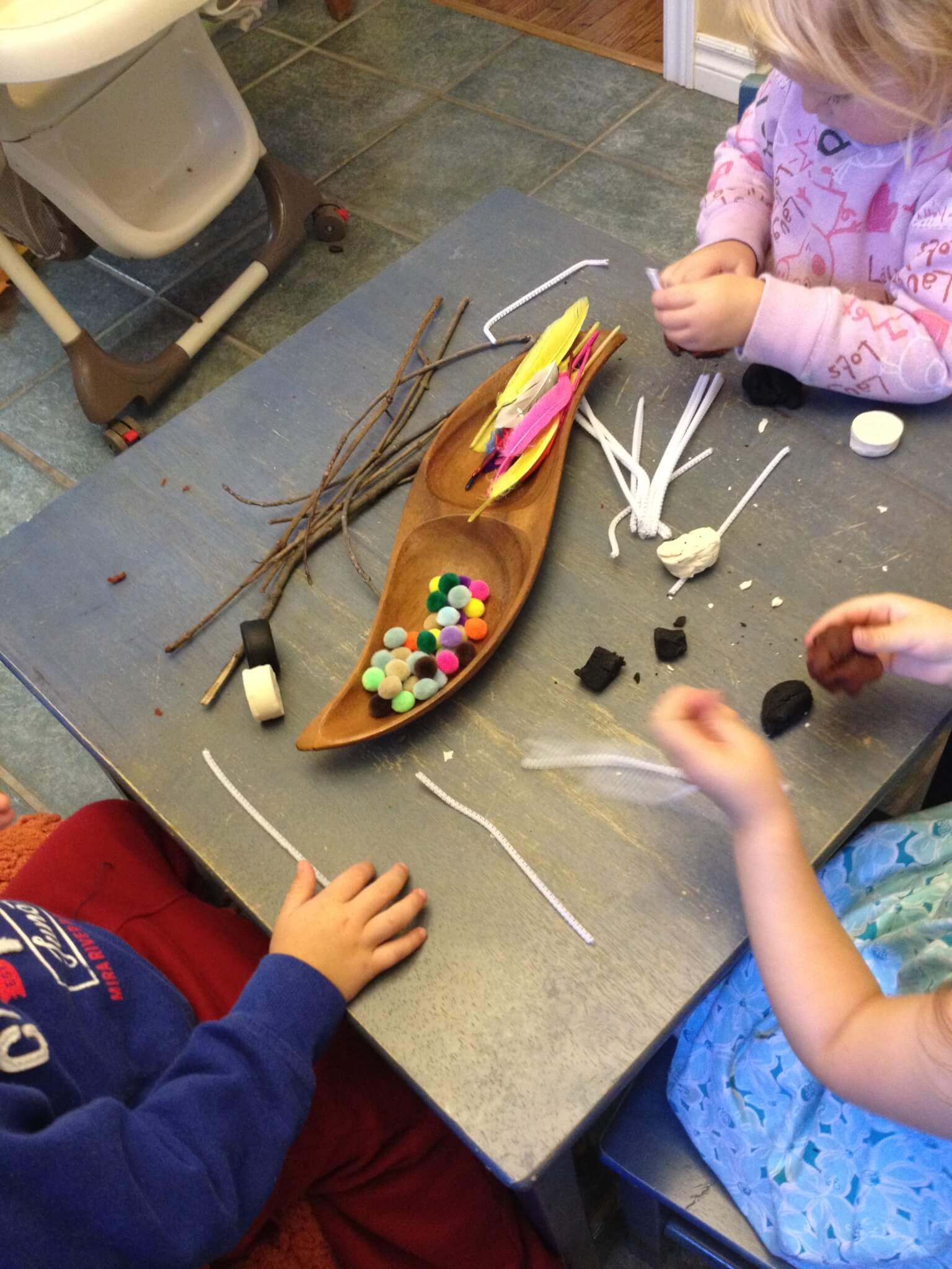 bird playdough reggio provocation