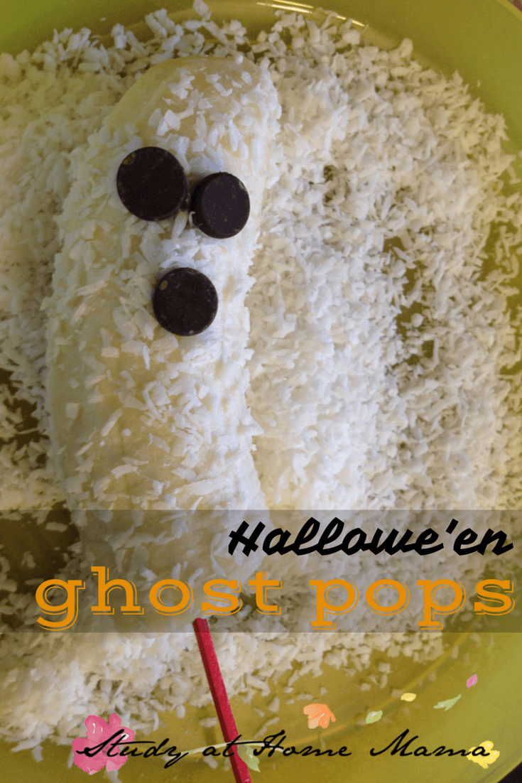 Halloween Ghost Pops: A healthy Halloween snack for kids