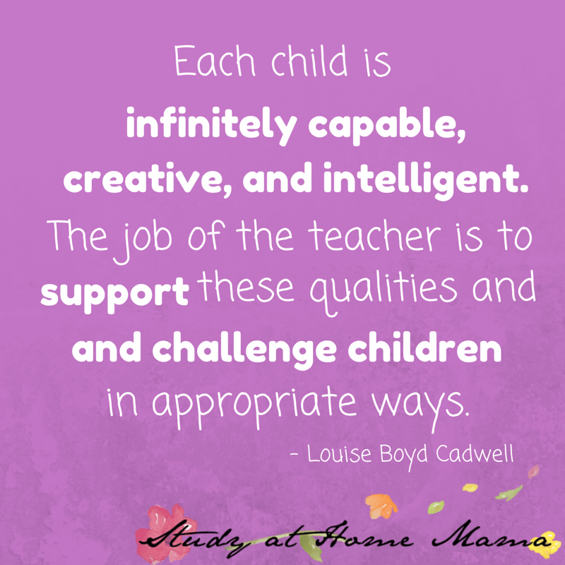 Each child is infinitely capable, creative, and intelligent. The job of the teacher is to support these qualities and challenge children in appropriate ways.