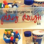 Organize a Homemade Play Dough Kit
