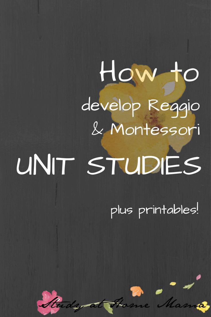 How to develop Unit Studies: Reggio and Montessori