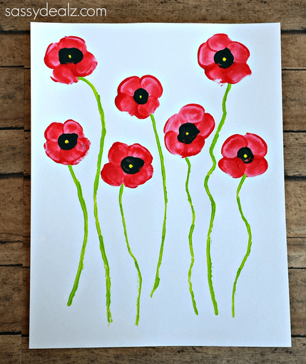 10 Poppy Crafts For Remembrance Day