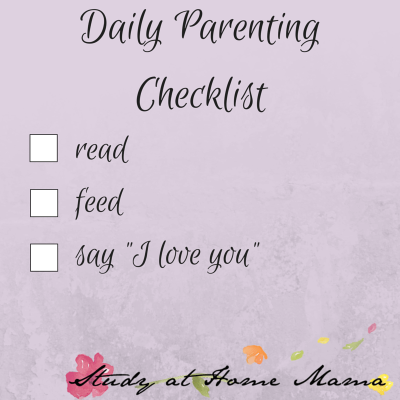 Daily Parenting Checklist: Parenting Inspiration