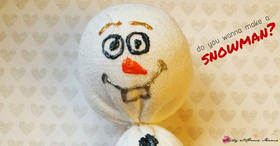 Do you wanna make a snowman - an Olaf sock puppet, that is!
