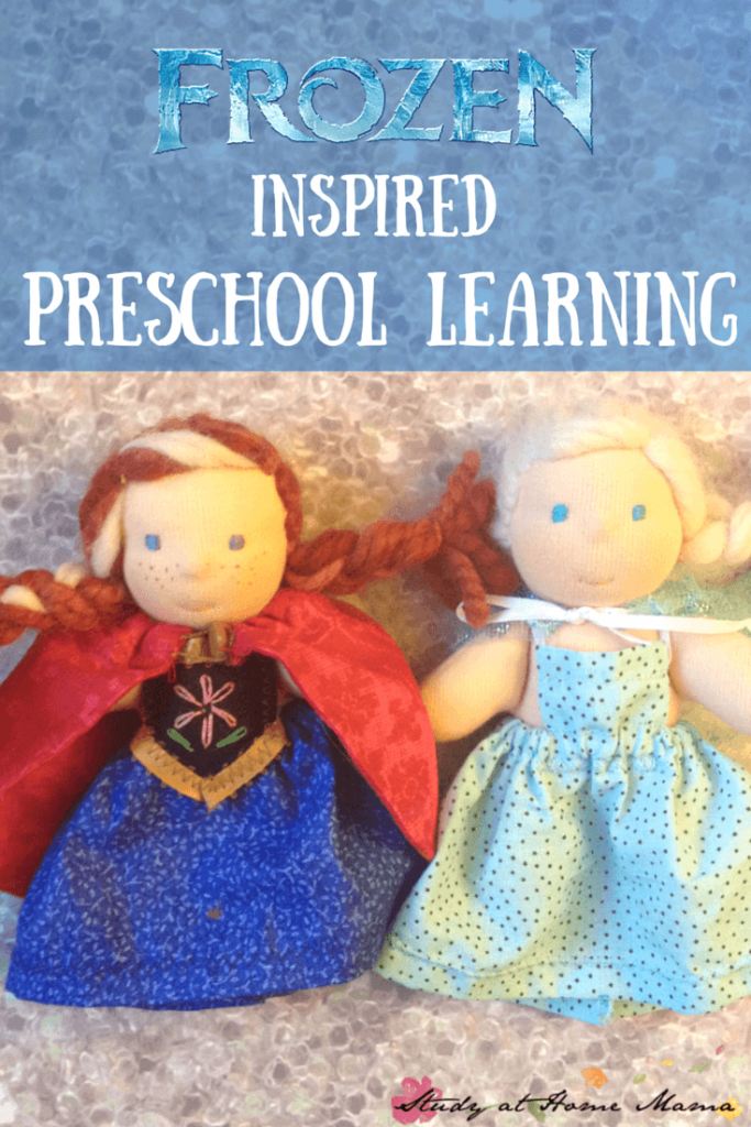 frozen inspired preschool learning