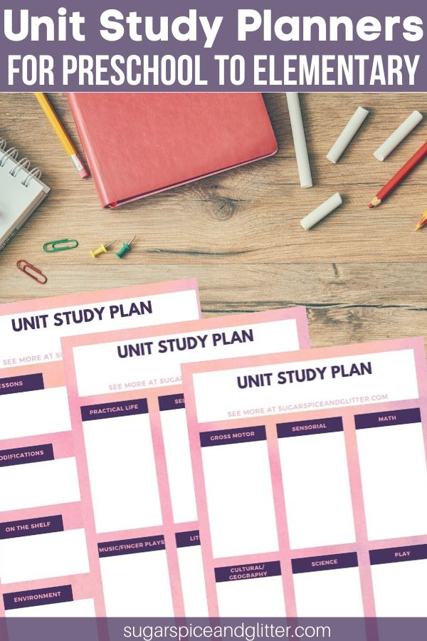 Free 3-page Unit Study Planners to help make your curriculum planning easier, and ensure you don't miss any subjects or modifications