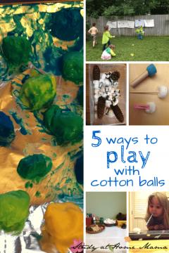 Cotton Balls: 5 Ways to Play