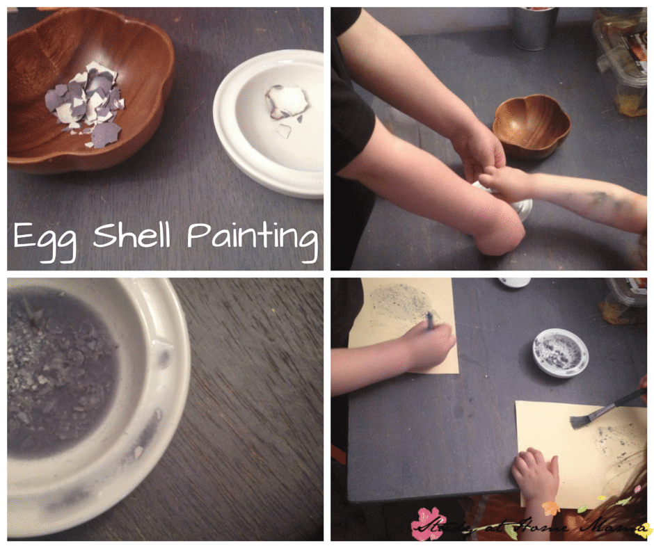 Egg Shell Painting - a great (and practical) use for egg shells and putting your child's fine motor skills to work!