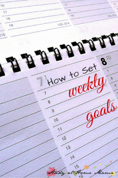 How to Set Weekly Goals