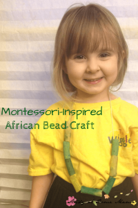 Montessori-Inspired African Bead Craft