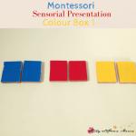Montessori Sensorial: Colour Box 1 Presentation