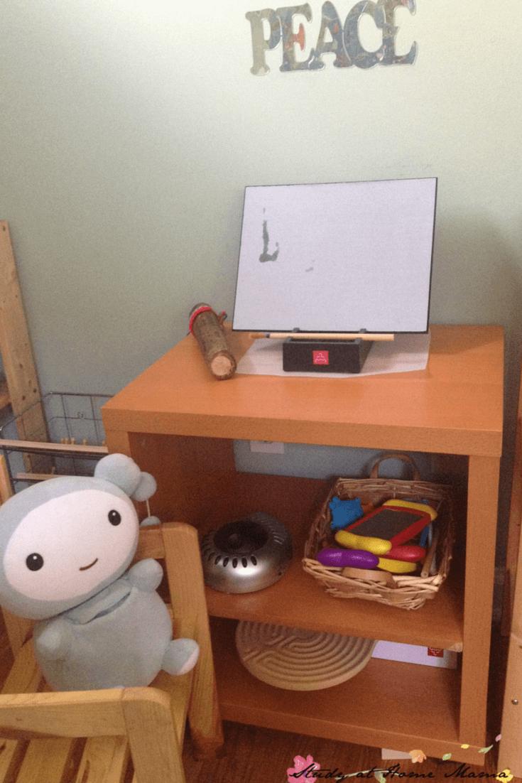 Preschool Peace Corner for School or Home designed by a psychologist and Montessori teacher