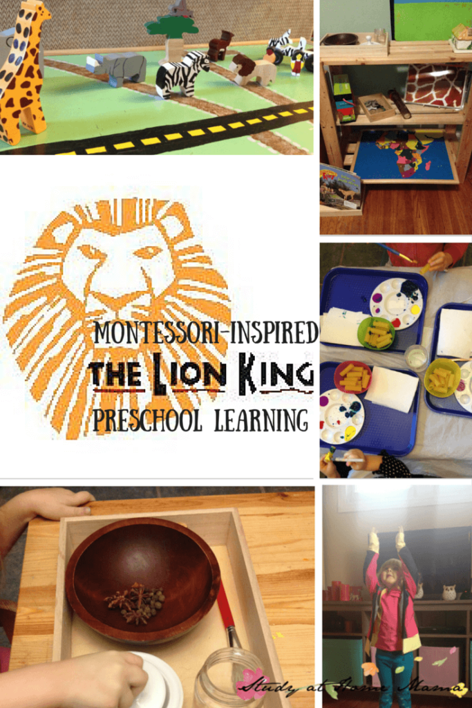 Montessori-inspired Lion King: disney preschool learning