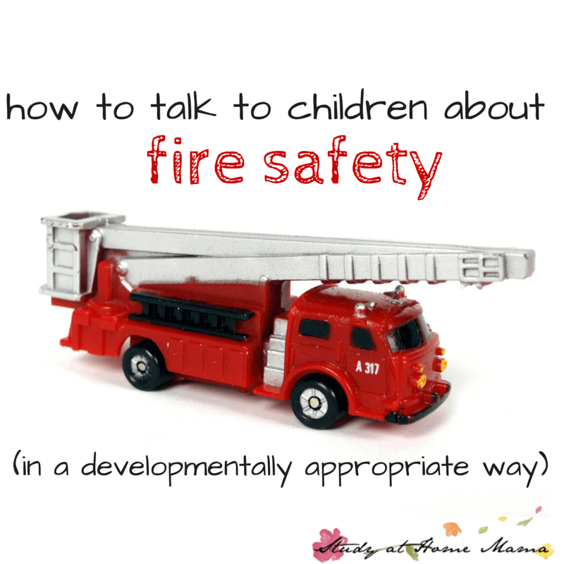 how talk to children about fire safety
