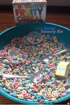 Cereal Colour-Sorting Sensory Bin