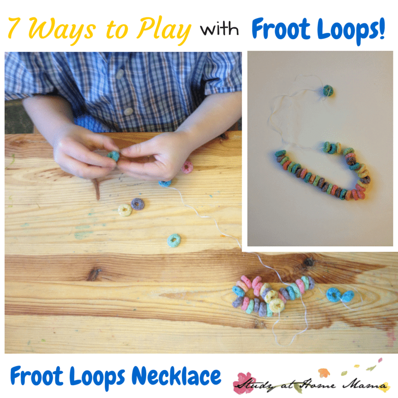 7 Ways to Play with Froot Loops: Froot Loops Necklace