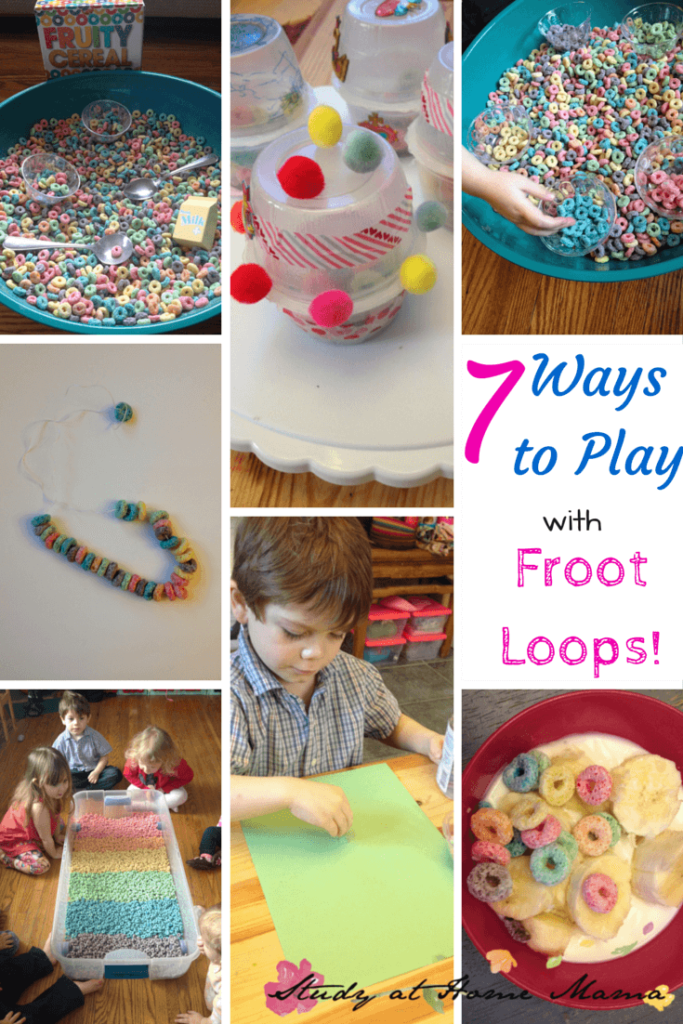 7 Ways to Play with Froot Loops! 7 frugal hands-on learning activities